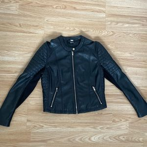 H&M DIVIDED Leather Moto Jacket